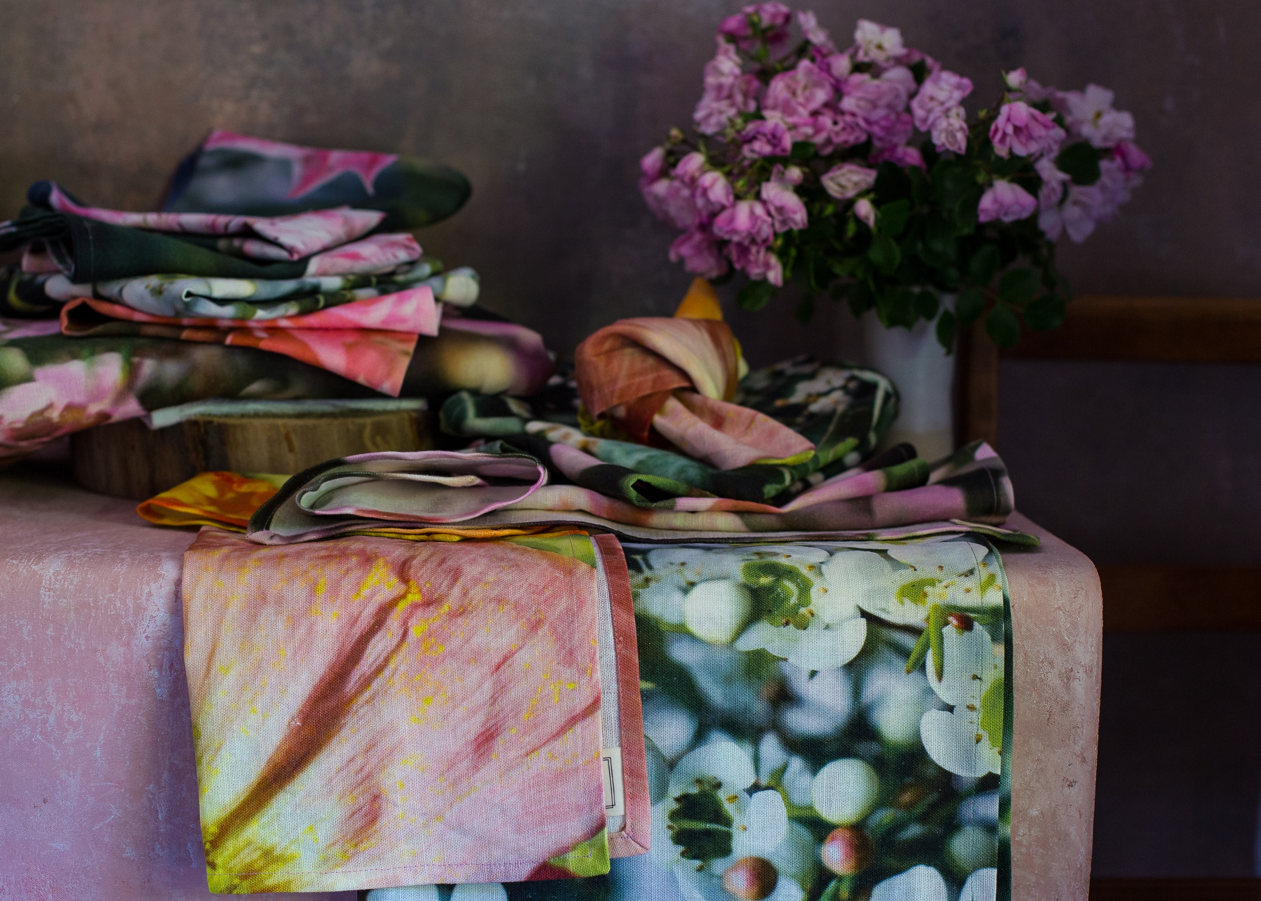 In Bloom table linen collection